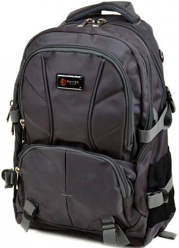 Качественный городской рюкзак из нейлона Power In Eavas 40 л. grey серый