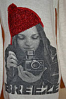 Кофта туника красная шапка на девочку
