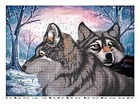 """Схема для вышивки бисером или крестиком """"Волки"""""""
