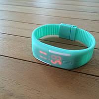 Спортивные силиконовые Led часы Glass Green