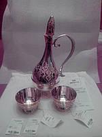 Набор кувшин с двумя пиалами серебро 925 и позолота качественное заводское исполнение