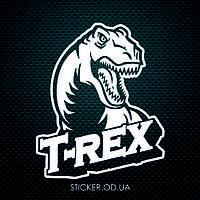 """Наклейка на стену, стекло, зеркало, детский декор """"Динозавр T-Rex"""""""
