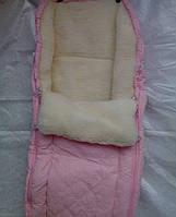 Меховой конверт мешок для новорожденных
