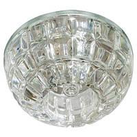 Светильник светодиодный декоративный JD87  G9 прозрачный с led подсветкой 2.5W  4000k Max 35W, Feron