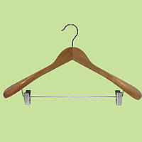 Плечики деревянные коричневые для одежды