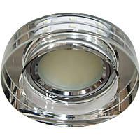 Светильник светодиодный декоративный 8080-2 MR16 прозрачный серебро серебро с led  подсветкой   SMD3014 12leds