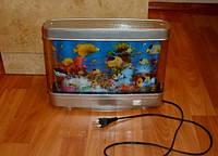 Светильник аквариум, 20х17, Ночник рыбки FiSH - светодиодный, подсветка, ночник, с рыбками