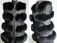 Женская меховая жилетка из меха песца.