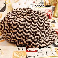 Теплая кепка из костюмного текстиля