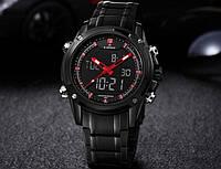 Мужские электронные наручные часы Naviforce Sport с подсветкой