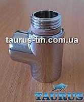 """Тройник Premium хром 1/2"""" с уплотнительным кольцом для полотенцесушителей"""