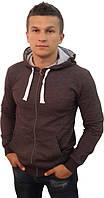 Мужская стильная кофта с капюшоном, на молнии - Модель 99-168