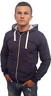 Мужская стильная кофта с капюшоном, на молнии - Модель 99-169