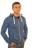 Мужская стильная кофта с капюшоном, на молнии - Модель 99-170