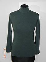 Теплая водолазка женская - гольф шерсть 3 цвета размер 44/46