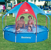 """Каркасный бассейн """"С зонтиком и душем"""" BestWay"""