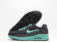Кроссовки женские Nike Air Max темно-серые с мятным (найк аир макс)