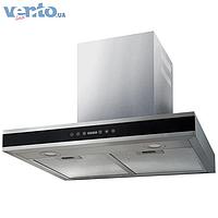 Ventolux Flat 60 BK/X (1200) декоративная кухонная вытяжка, нержавеющая сталь / черное стекло