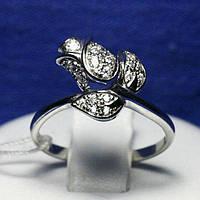 Женское серебряное кольцо Роза с фианитами 71774б