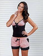 Женская пижама, костюм для дома футболка  и шорты Sahinler B394