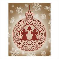 """Схема для вышивки бисером """"Новогоднее украшение"""""""