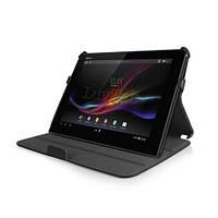 Конверируемый черный чехол на Sony Xperia Tablet Z из синтетической кожи.