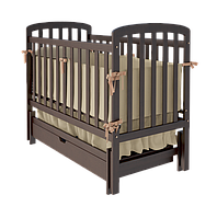 Детская кроватка Teddy с выдвижным ящиком