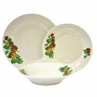 Набор столовой посуды Клубника 18 предметов Оселя