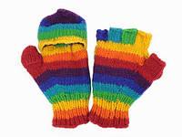 Зимние варежки-перчатки с пальцами Ручная вязка в ассортименте