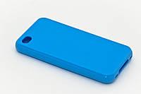Чехол-накладка силикон для iPhone 4/4S синяя