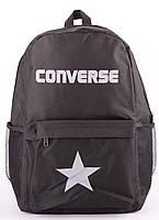 Рюкзак Converse черный c белым логотипом 13х41х30