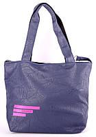 Сумка женская Adidas цвет синий с розовым логотипом 42х30х14 SOR /0-591