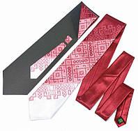 Галстук с вышивкой Бордовое Трио (Галстуки с вышивкой)
