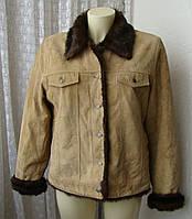 Дубленка женская зимняя теплая бренд Wilsons Leather р.52 4885а