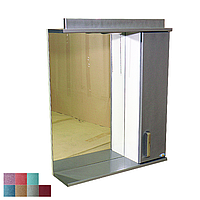 """Зеркало для ванной комнаты с подсветкой и шкафчиком """"Колибри"""" 60sr"""