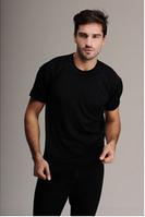 Термобелье мужское шерстяное (футболка) черное 75% шерсти