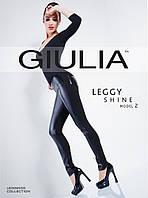 Облегающие леггинсы c декоративными вставками из искусственной кожи ТМ Giulia