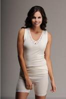 Термобелье женское шерстяное (майка) белое 75% шерсти