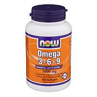 Омега 3-6-9 Now Omega 3-6-9 1000 mg 100 softgels