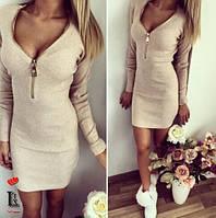 Ангоровое платье на молнии