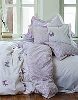 Постельное белье полуторное KARACA HOME ALISSE с бирюзовыми цветами