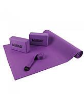 Набор для йоги LiveUp Yoga Set (Коврик для йоги, 2 йога-блока, ремень) (LS3240)