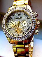 Эксклюзивные женские кварцевые часы Rolex. Привлекательные, стильные, красивые часы. Модные часы. Код: КЕ377