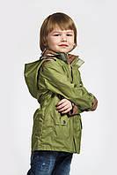 Куртка-парка для мальчика зеленого цвета ( плащ )