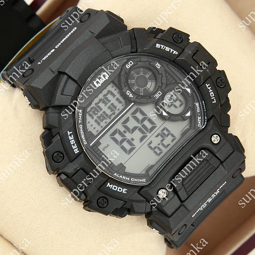 Кварцевые спортивные наручные часы Q&Q m144j001y 1052-0024
