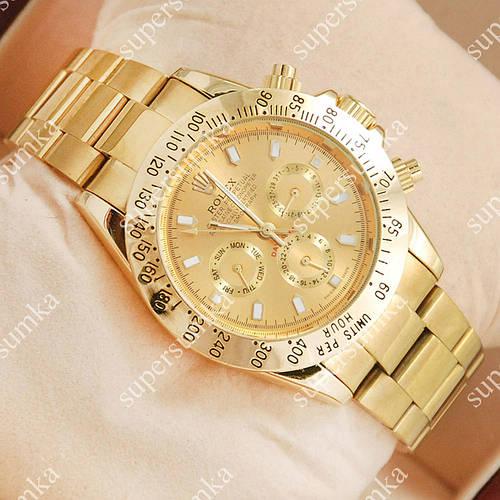 Яркие наручные часы Rolex Daytona Men Gold 2025
