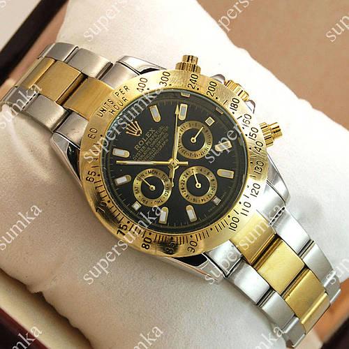 Деловые наручные часы Rolex Daytona Men Silver/Gold/Black 2032