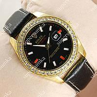 Модные наручные часы Rolex Diamonds Gold/Black 2042