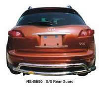 Защита заднего бампера Infiniti FX35 2003-2012