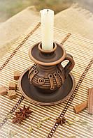 Подсвечник глиняный с косичкой